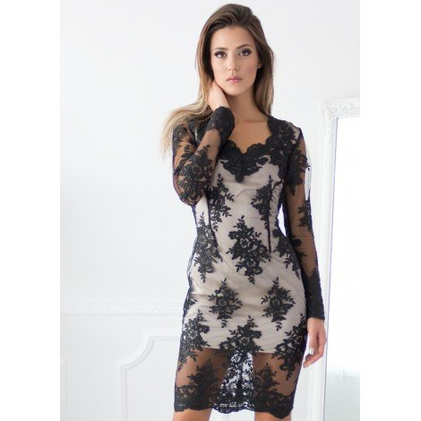 Midnight Magic Mini Dress (Black)